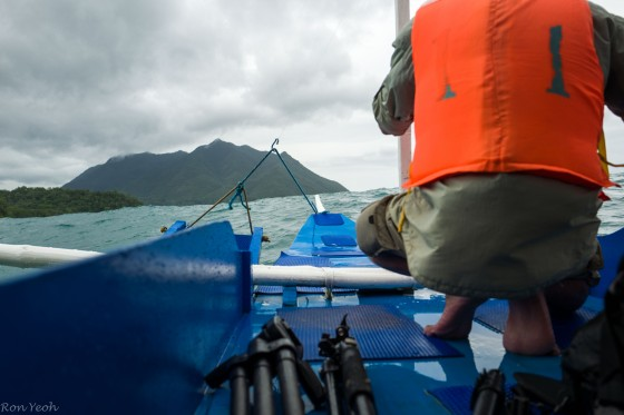 Coming back to Sabang on the boat, the swell was big!!