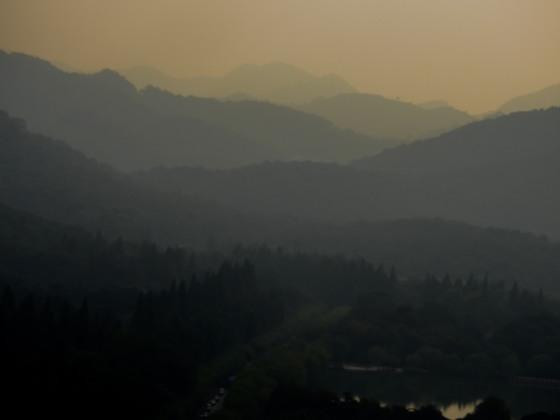 The ethereal mountain ranges fringing Xihu