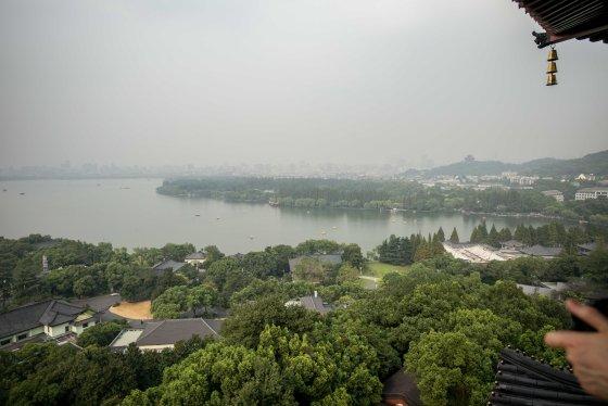 View of Xihu towards hagnzhou City