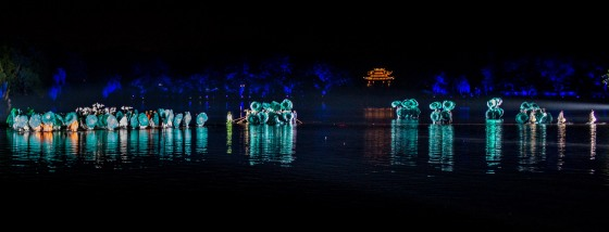 performers danced on the water