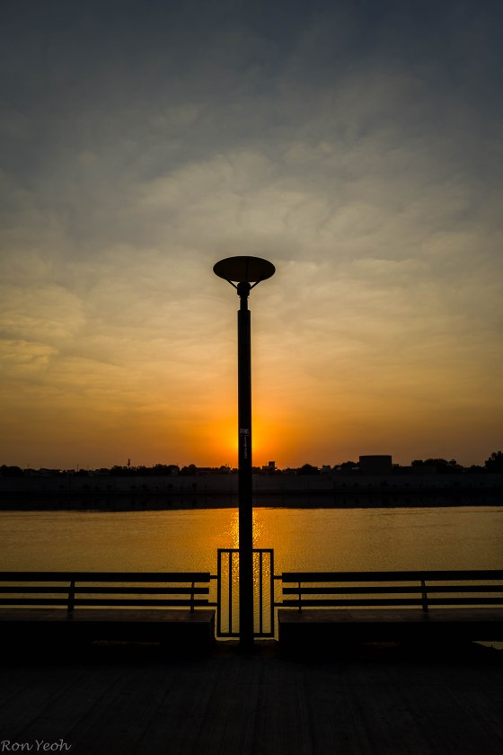 sunrise over sabarmati river