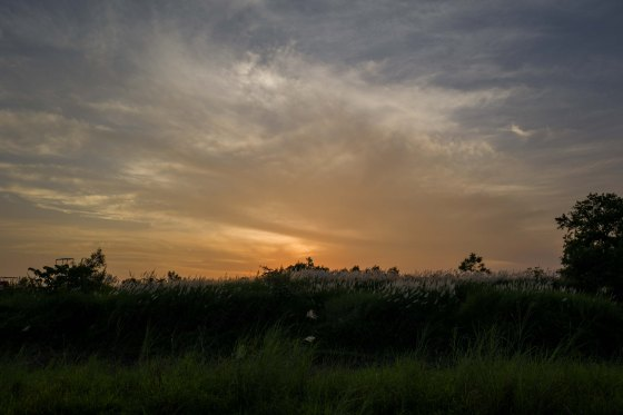 sunset over bai da song hong